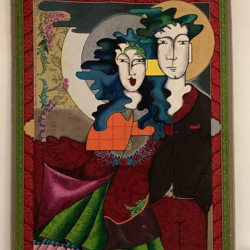 Gaëlle Germain peinture sur tapis